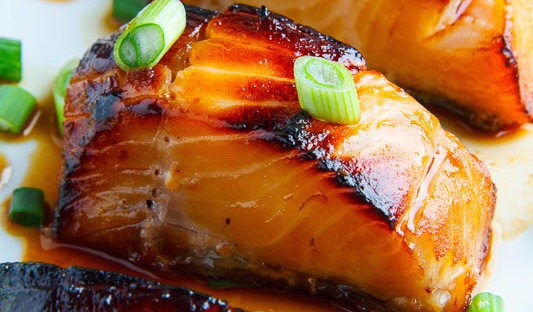 Miso Glazed Black Cod on Baby Bok Choy and Shiitake Mushrooms #dinnerrecipe #food #amazingrecipe #easyrecipe