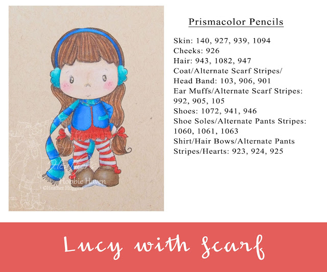 Heather's Hobbie Haven - Colored Pencil Tuesday - Lucy with Scarf