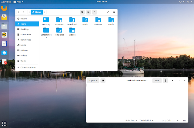 Zorin OS 15 blue light theme