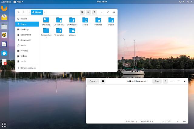 Zorin OS 15 blue light theme