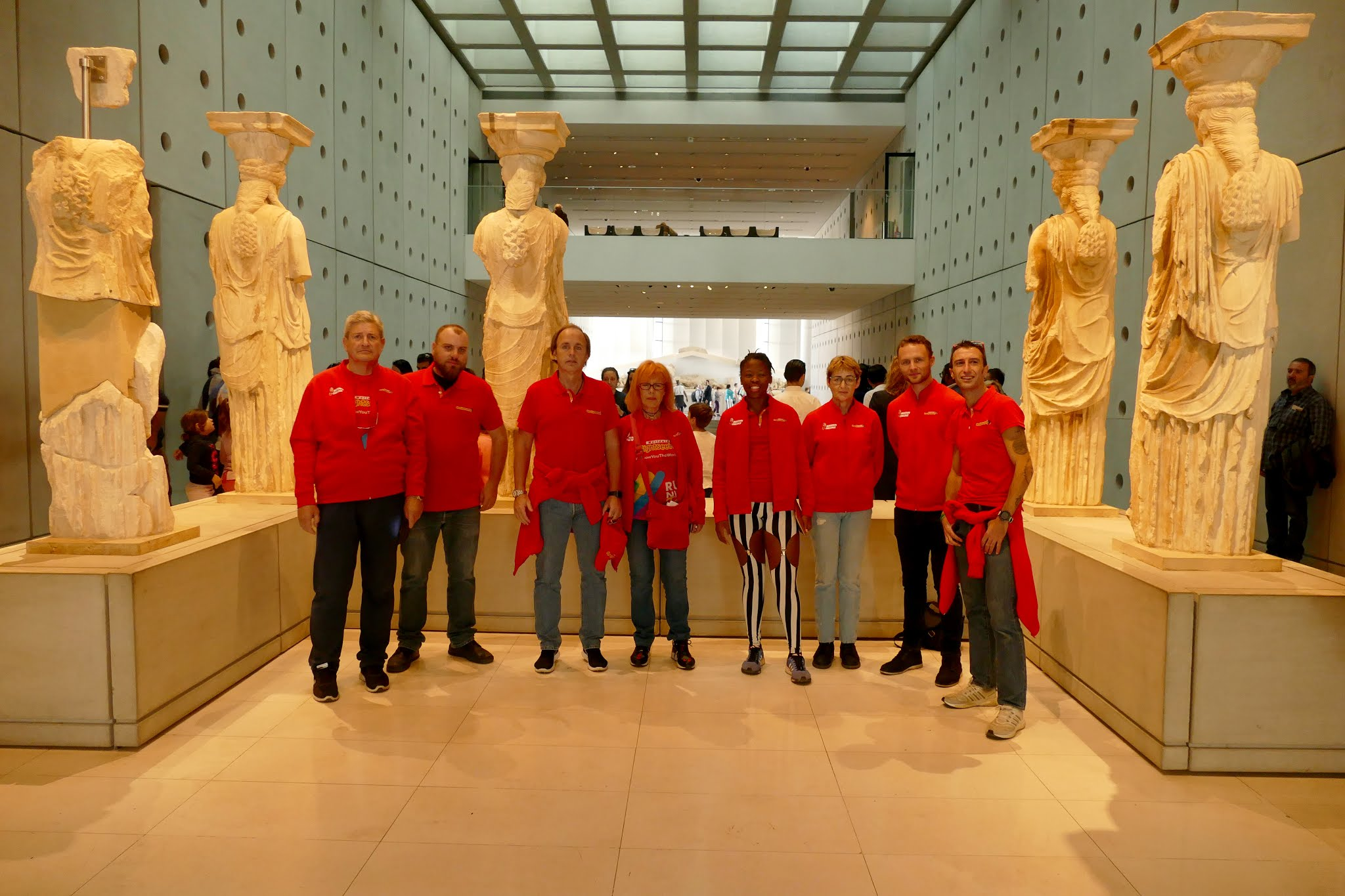 city sightseeing running team museo acropolis atenas