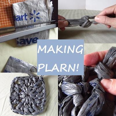 plarn, plastic yarn, tutorial, how to, crochet