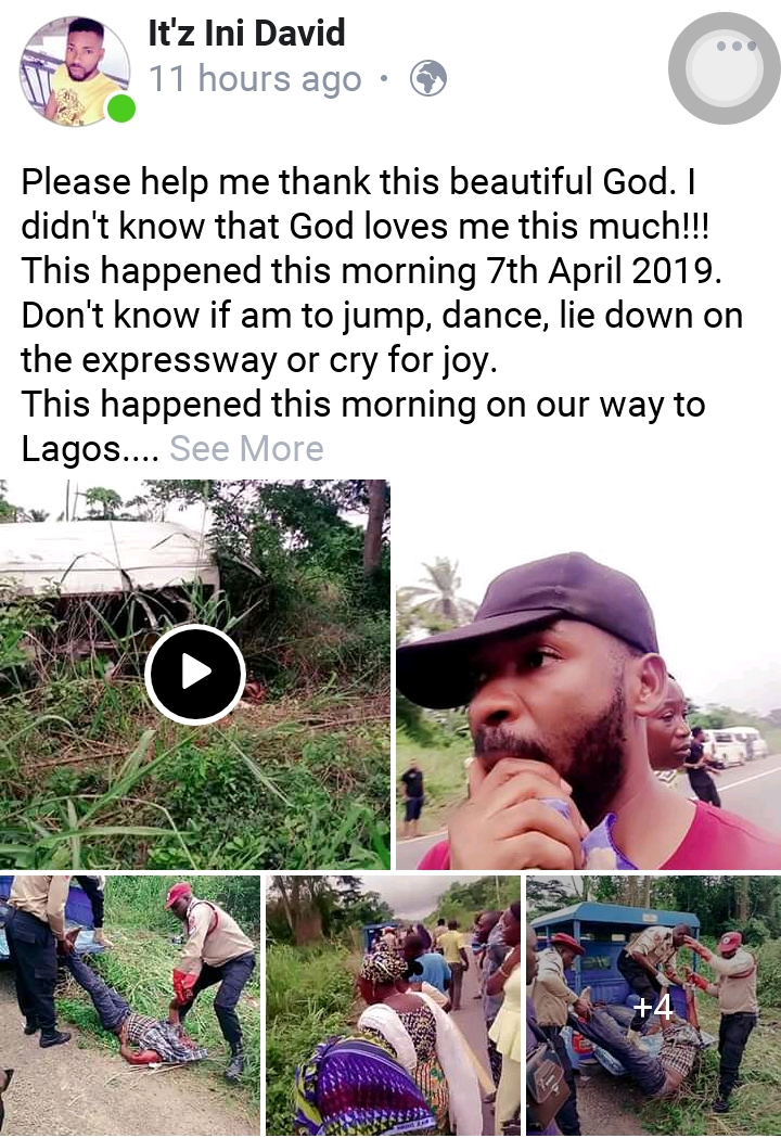 Facebook user, Ini Dave, narrates how he escaped road accident involving Dangote trailer