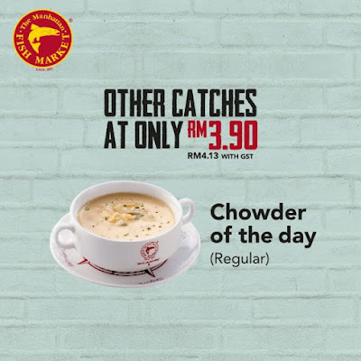 The Manhattan FISH MARKET Chowder of the Day Regular