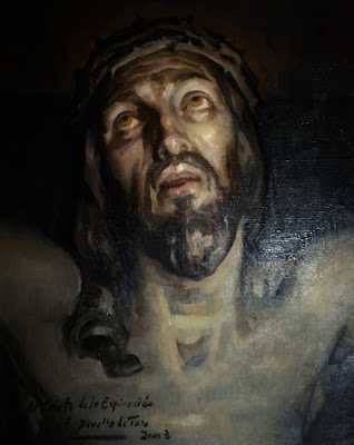 Cristo de la expiración, Cristo coronado de espinas, Félix Revello de Toro, Revello de Toro, Pintores Malagueños, Retratos de Revello de Toro, Pintor español, Pintores de Málaga, Retrato de Cristo