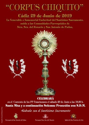 Hasta 9 pasos formarán el cortejo del Corpus Chiquito de Cádiz