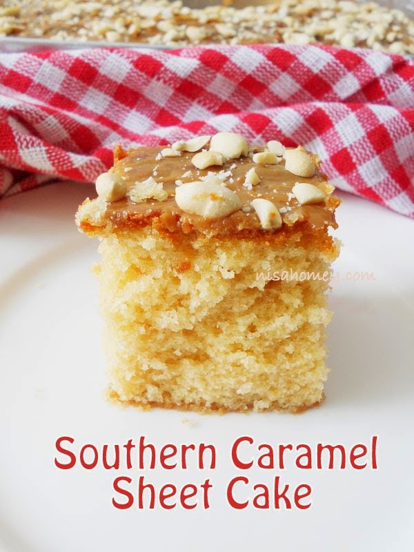 Southern Caramel Sheet Cakestep By Step