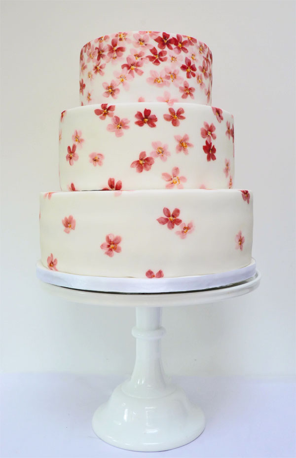 Amelies House Cherry blossom wedding cake