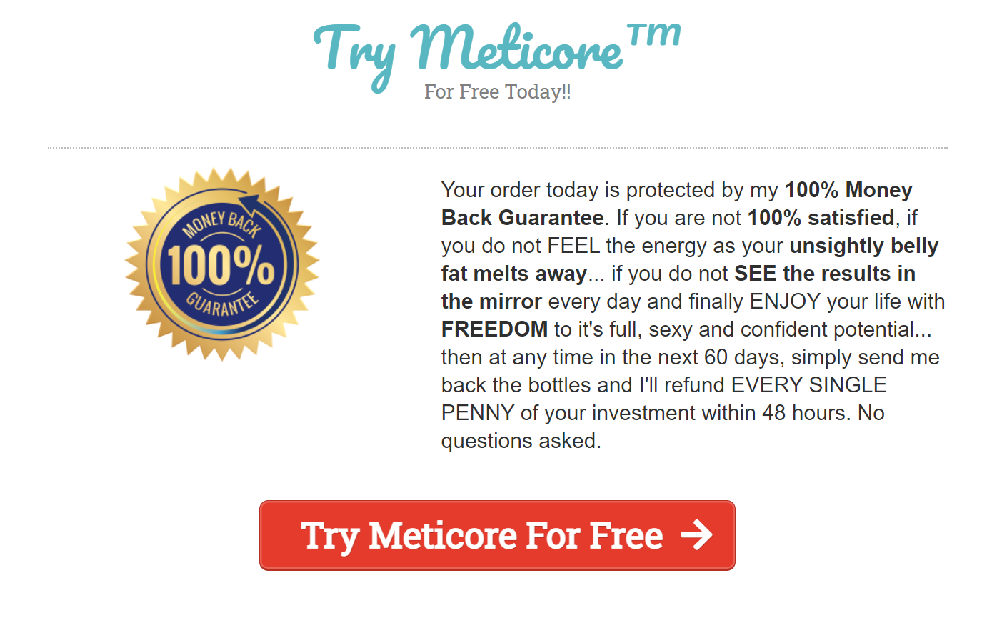 Try Meticore For Free Now @90% OFF