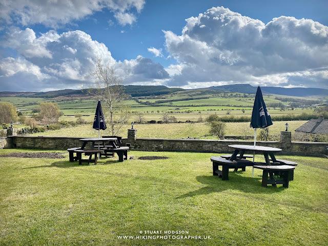 Pub beer garden near Rothbury Northumberland best