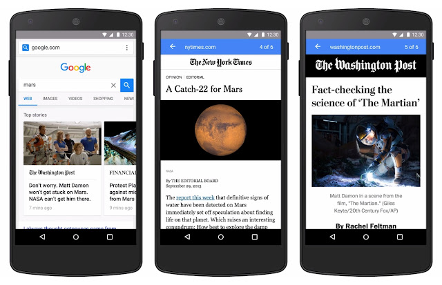 Google AMp pages looks like