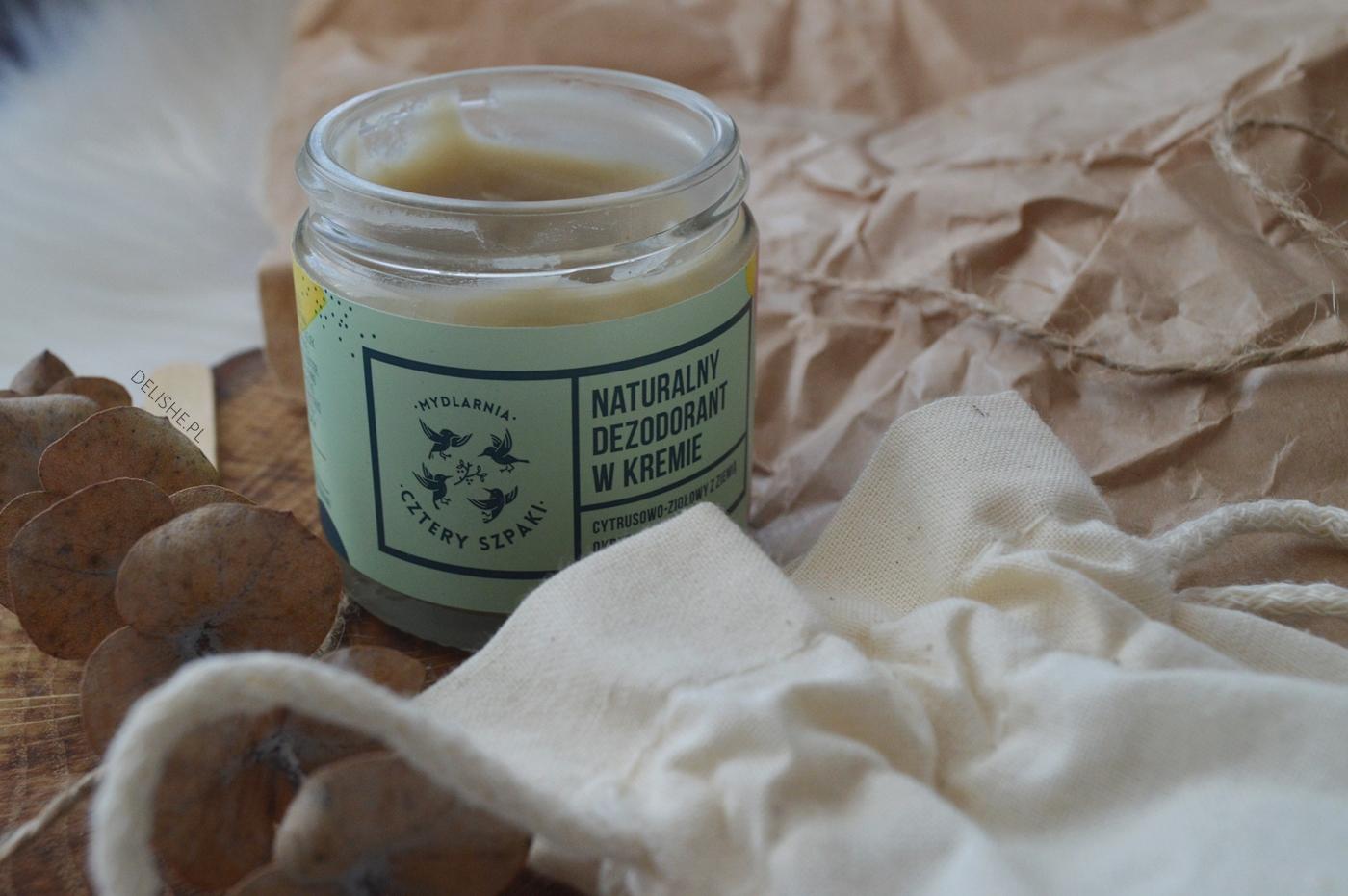 naturalny dezodorant w kremie 4 szpaki