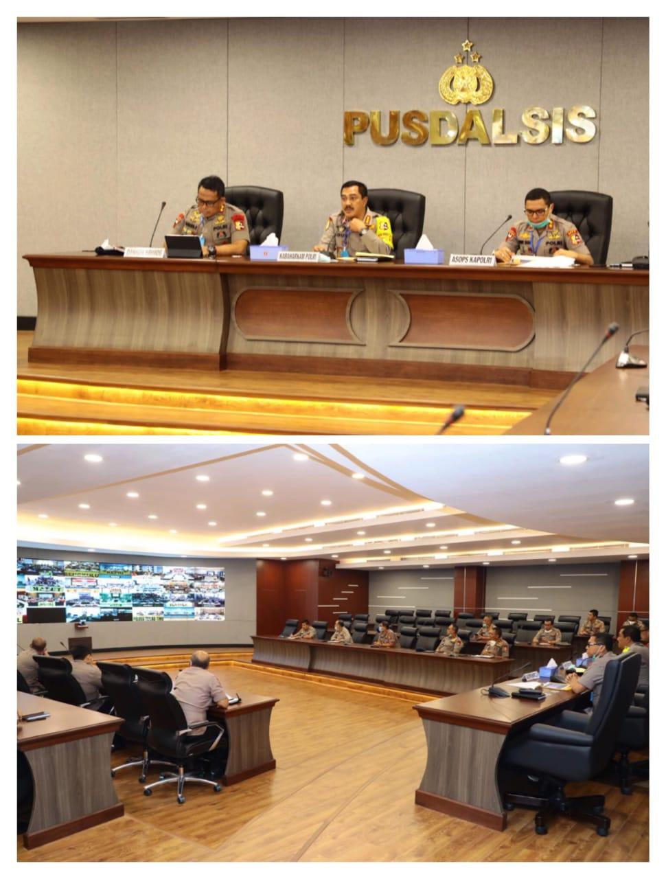 Kabaharkam Polri Pimpin Kegiatan Rakor Lanjutan Ops Aman Nusa II-Penanganan Covid-19