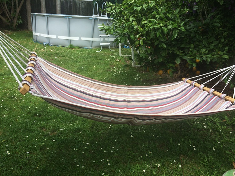 A hammock is the perfect place for chillin