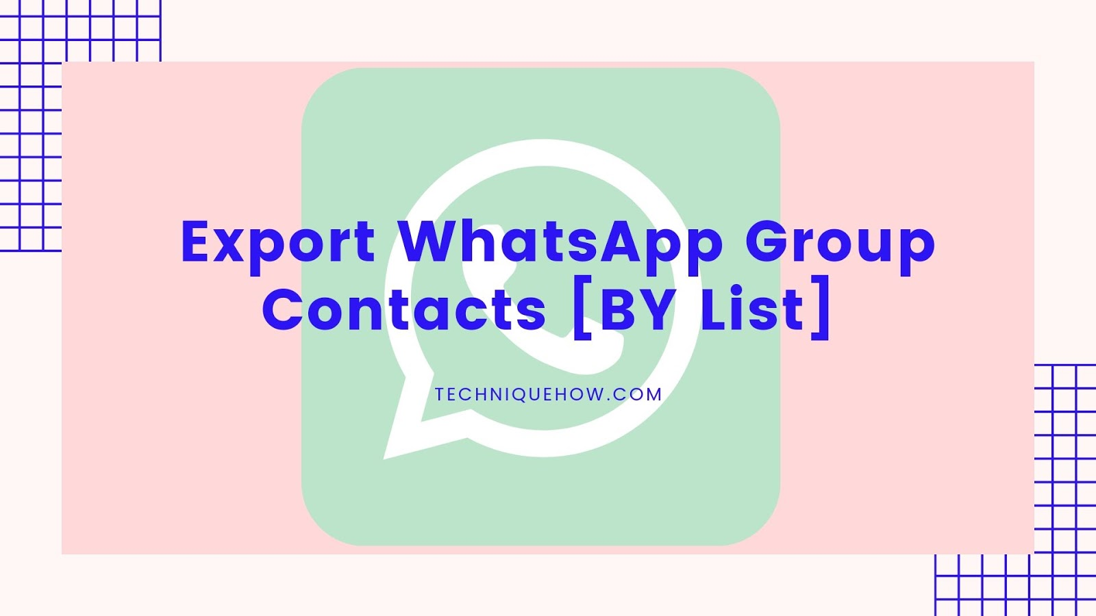 Export WhatsApp Group Contacts