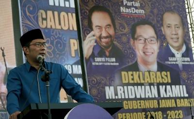 Ridwan Kamil Maju Pilgub Jabar Diusung NASDEM