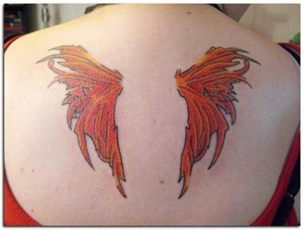 peri kanadı dövmesi