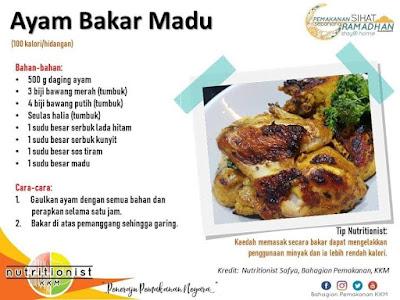 menu berbuka puasa dan sahur simple ayam bakar
