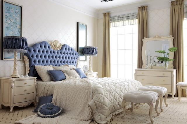 Màu sắc giường ngủ sang trọng, quý phái