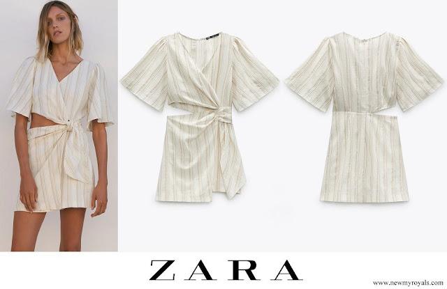 Infanta Sofia wore Zara cut-out rustic dress
