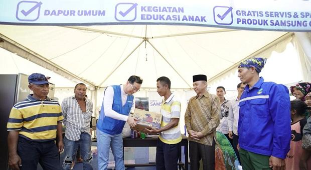 Samsung Bersama PMI Bangun 500 Hunian Sementara di Lombok