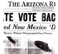 Fotos de Rhodes de OVNIS publicadas en el Arizona Republic
