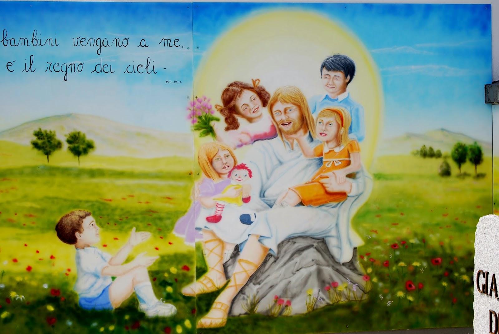 Roberta gandolfi murale ges e i bambini - Immagine di terra a colori ...