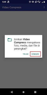 Bila ada peringatan aplikasi meminta perizinan, Sobat klik Izinkan.