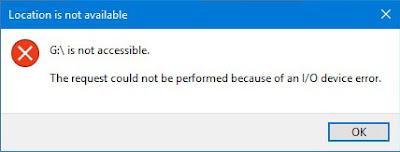Flashdisk tiba-tiba mengalami I/O device error