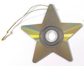 Enfeites para o natal com CDs 9