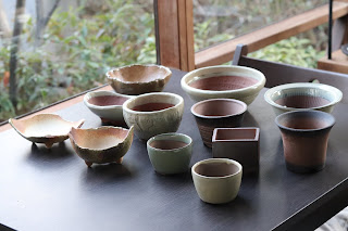 山野草盆栽の盆栽鉢(萬古焼)