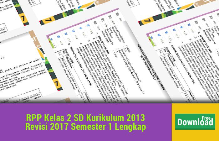 RPP Kelas 2 SD Kurikulum 2013 Revisi 2017