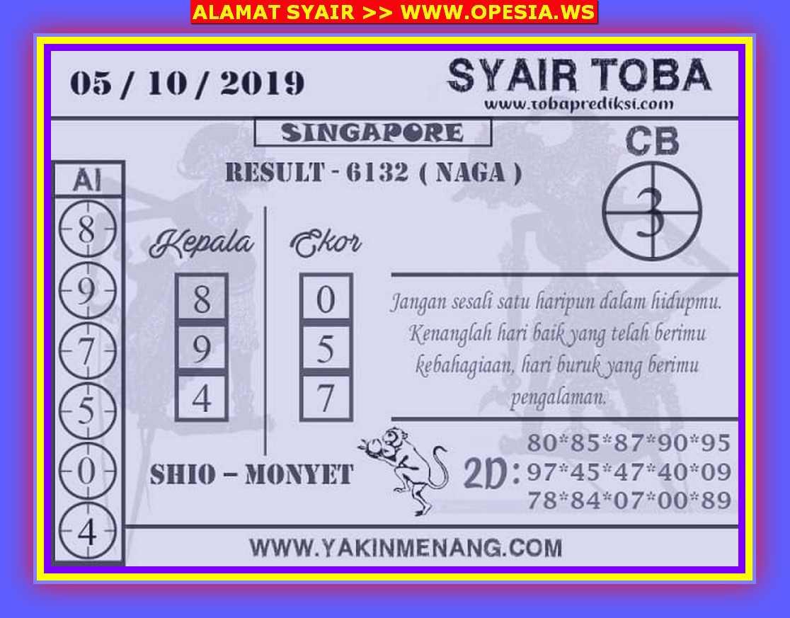 Kode syair Singapore Sabtu 5 Oktober 2019 6