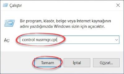 control nusrmgr.cpl