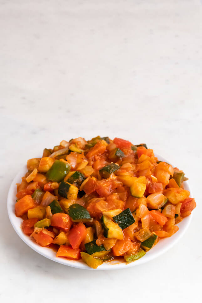 Photo of a plate of ratatouille