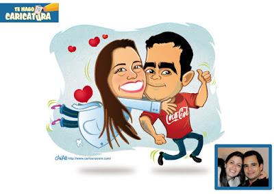 caricatura PARA ENAMORADOS