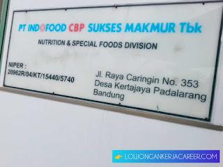 Lowongan kerja PT Indofood Padalarang Bandung Terbaru 2020