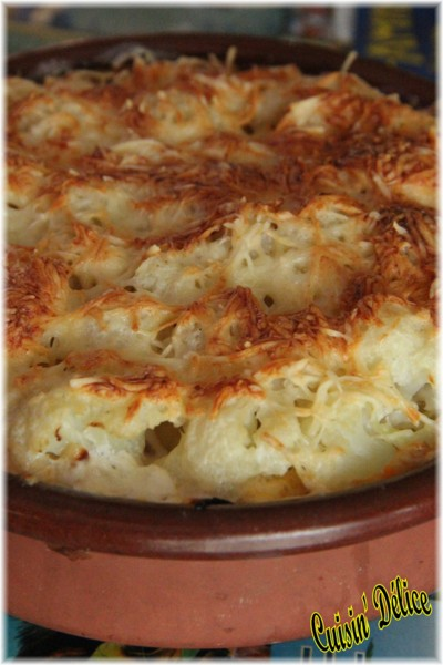 Cuisin Delice Gratin De Patate Douce Chou Fleur Et Chorizo
