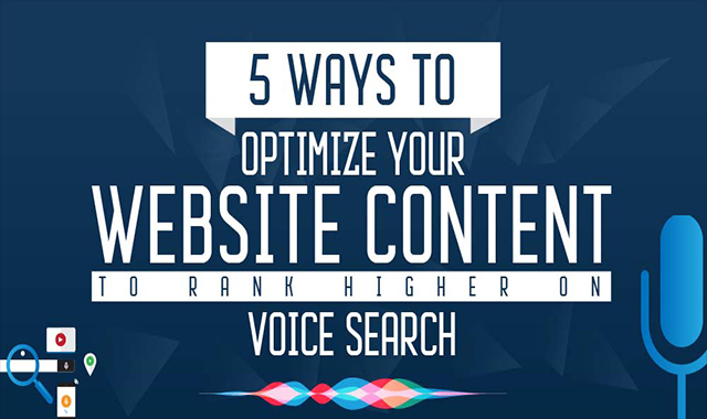 5 Ways to Optimize Content to Rank Higher on Voice Search #infographic