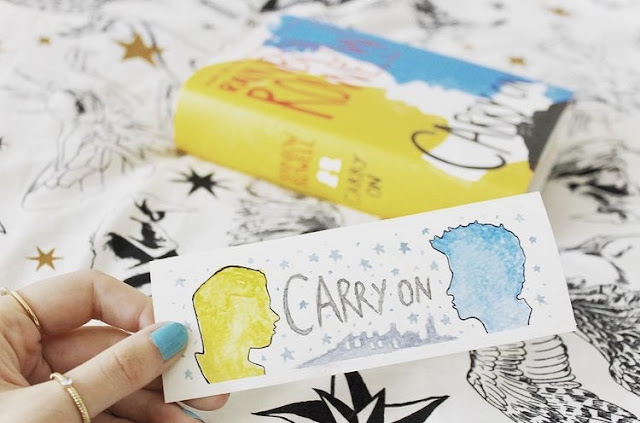 the Carry On theme bookmark i painted!