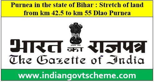 Purnea in the state of Bihar