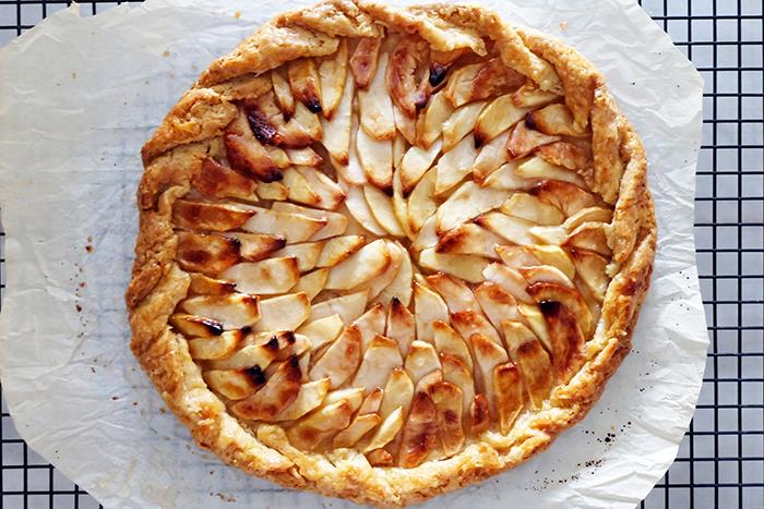 finished rustic apple tart