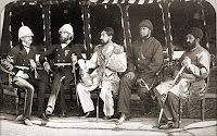 Amir Khan in the centre, with British officers in 1879
