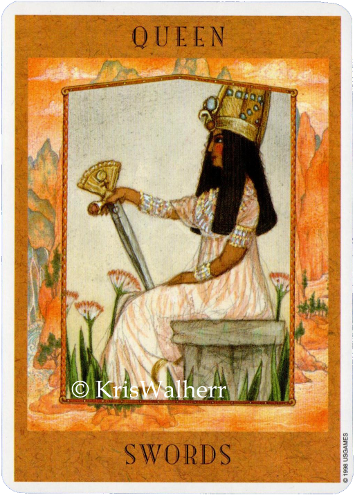Goddess Tarot, Queen of Swords