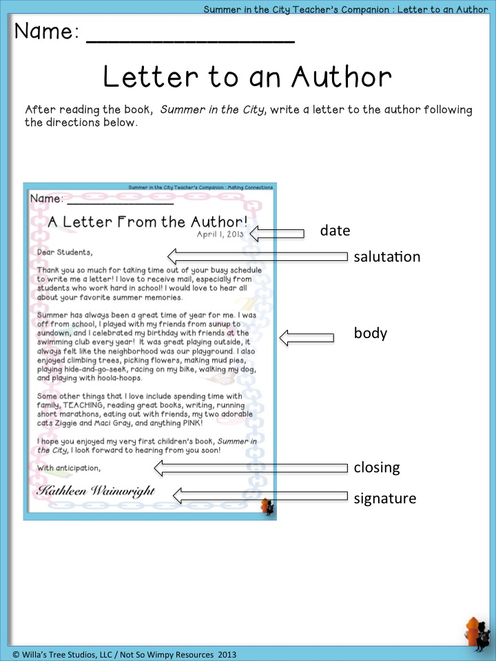 How to write a letter to an author