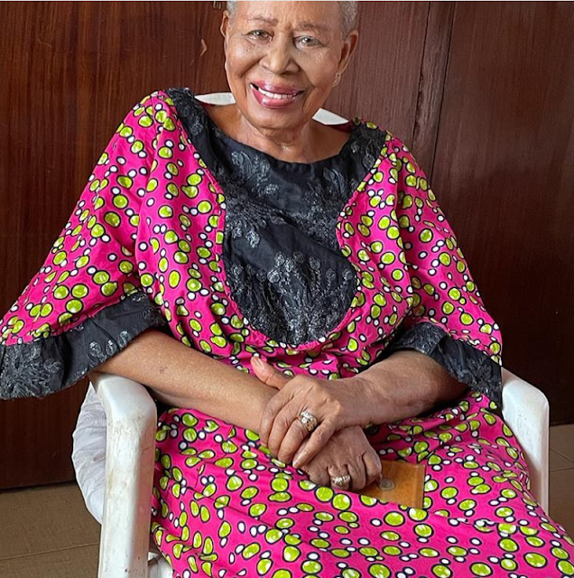 Check out the lovely photos of a 96-year-old Nigerian woman who has 12 children, 36 grandchildren and 43 great grandchildren