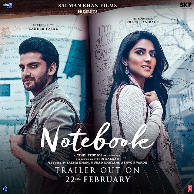 Notebook Trailer poster Tseries SKF Cine1studios