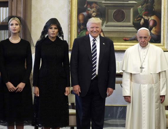 5 - This photo of Pope Francis and Donald Trump's family has got the internet talking