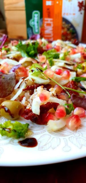 Kupiec,sałatka lekka i fit,lunch mix kupiec,granat,fenkuł,koper włoski,z kuchni do kuchni,najlepszy blog kulinarny,fit blog,zdrowa kuchnia,