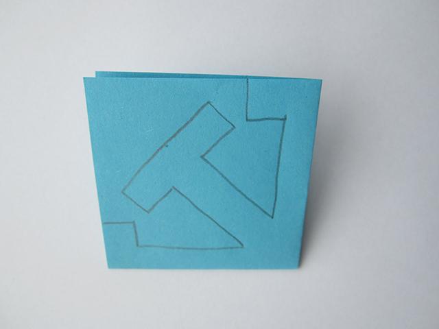 simpele papieren sneeuwvlok stap 1